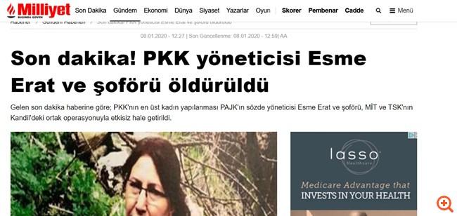 Η τουρκική ΜΙΤ σκότωσε την αρχηγό του PKK
