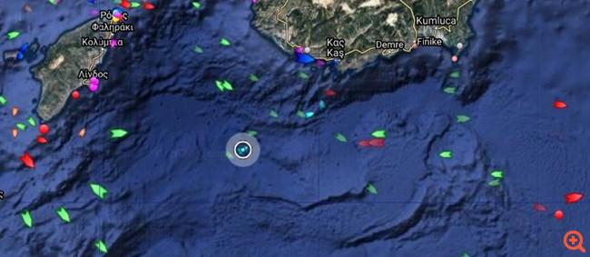 Στα 12 ναυτικά μίλια από το Καστελόριζο  το Ορούτς Ρέις