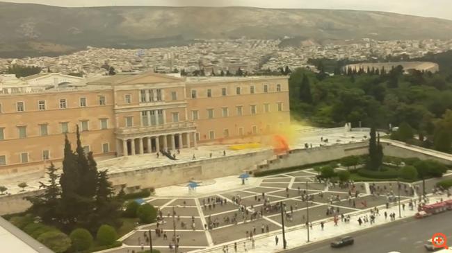 Ρουβίκωνας επίθεση Βουλή