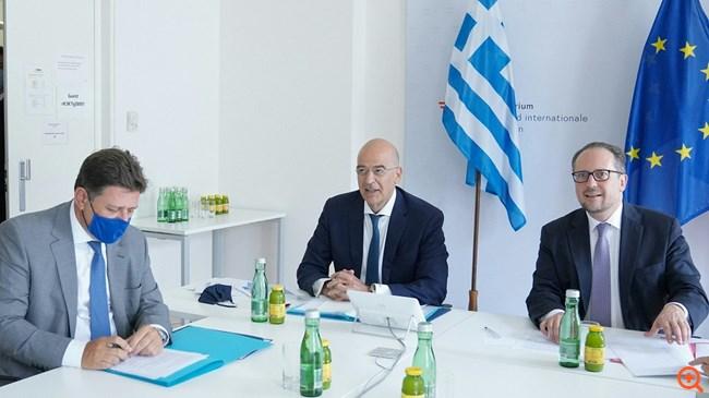 Τι συζητήθηκε στη συνάντηση Δένδια-Πομπέο - Πλήρης αλληλεγγύη στην Ελλάδα στο Συμβούλιο ΥΠΕΞ της ΕΕ