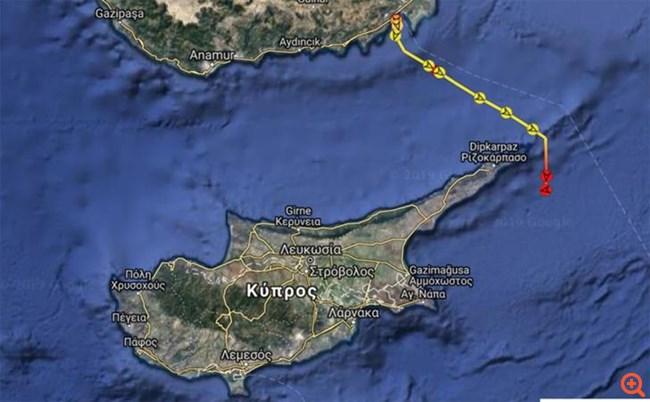 Κύπρος: Στα ανοιχτά της Καρπασίας έφτασε το Γιαβούζ με στόχο γεώτρηση
