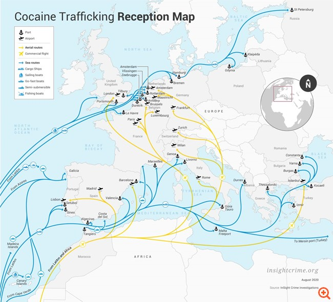 Η κοκαΐνη από την Κολομβία ψάχνει νέα δίοδο στην Ευρώπη