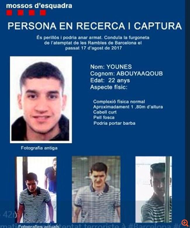 Νεκρός από αστυνομικά πυρά ο δράστης του μακελειού της Βαρκελώνης