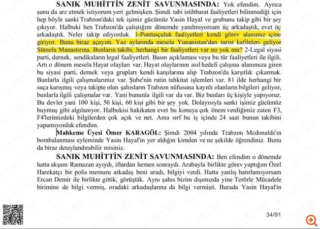 Nordic Monitor: Τούρκοι πράκτορες παρακολουθούσαν Έλληνες προσκυνητές στην Παναγία Σουμελά στην Τραπεζούντα
