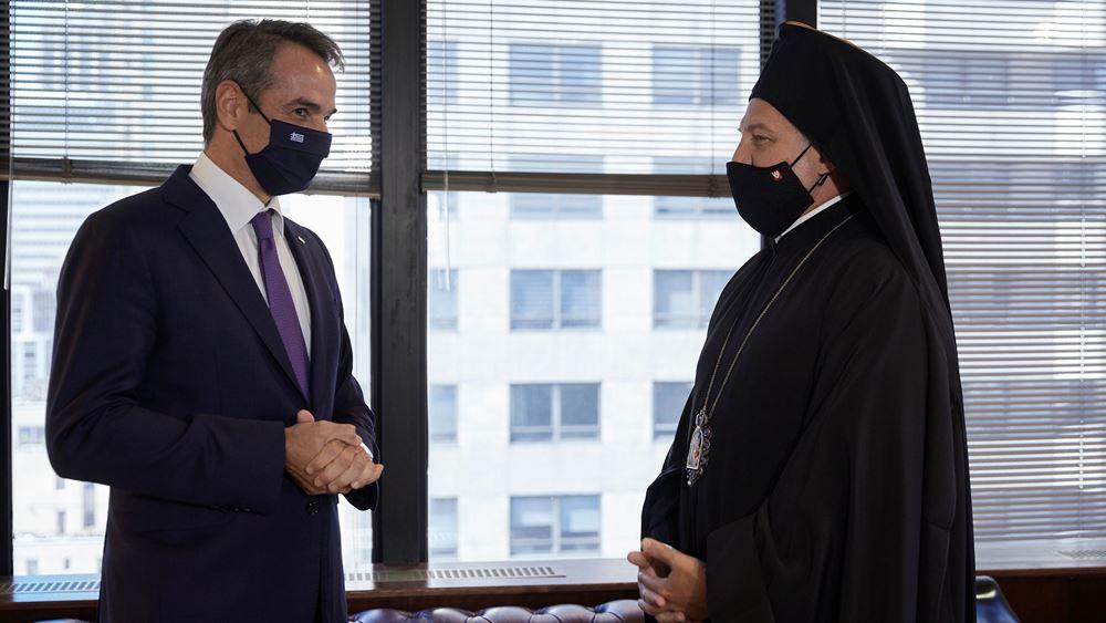 """Συνάντηση Μητσοτάκη - Ελπιδοφόρου: """"Το θέμα με την Αρχιεπισκοπή είναι λήξαν"""""""