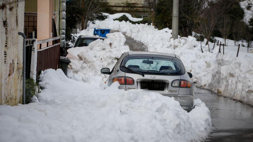 """Χιόνια και τσουχτερό κρύο φέρνει η κακοκαιρία """"Ηφαιστίων"""""""