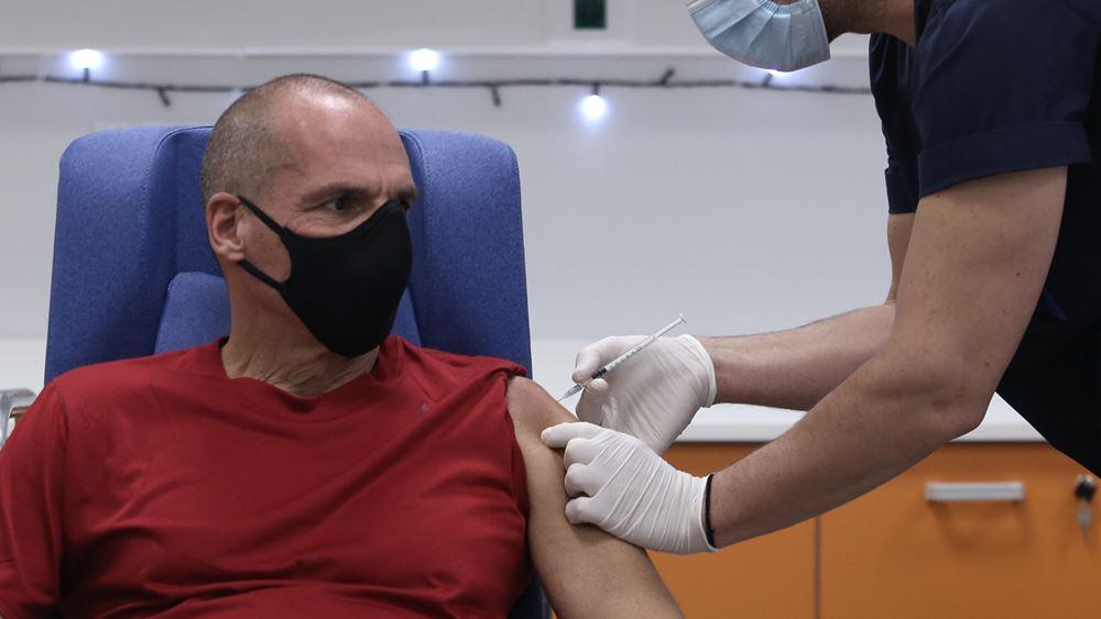 Γ. Βαρουφάκης: Στον Ευαγγελισμό εμβολιάστηκε ο  Γραμματέας του ΜέΡΑ25