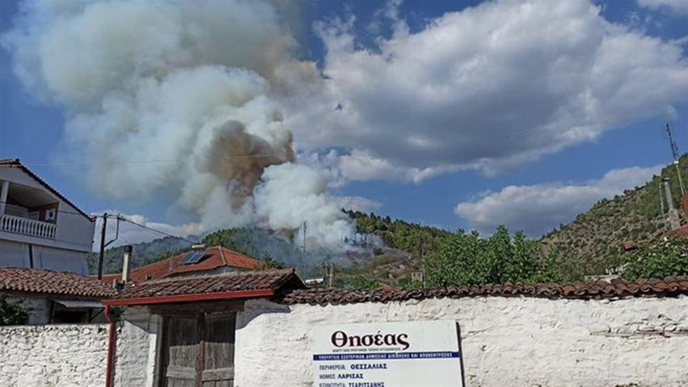 Λάρισα: Πυρκαγιά σε δασική έκταση κοντά στο χωριό Τσαριτσάνη του δήμου Ελασσόνας