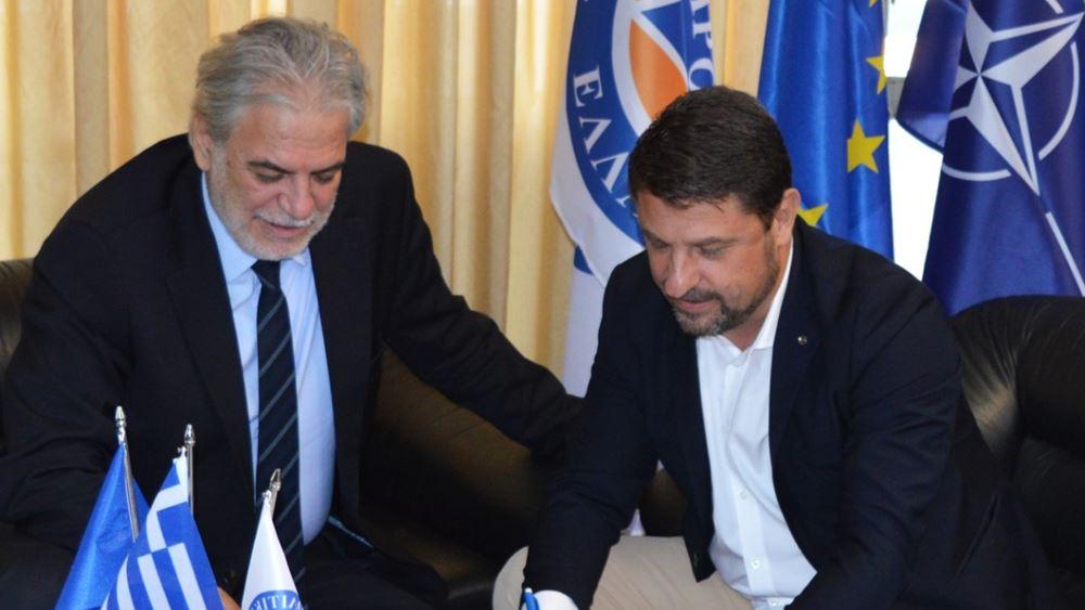 Συνάντηση Ν. Χαρδαλιά με τον πρώην Επίτροπο της ΕΕ Χρ. Στυλιανίδη