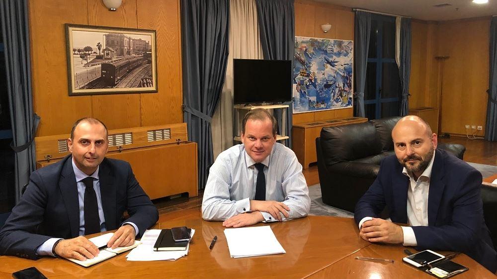 Συνάντηση εργασίας του Κώστα Καραμανλή με τον Πρόεδρο του ΤΕΕ Γιώργο Στασινό