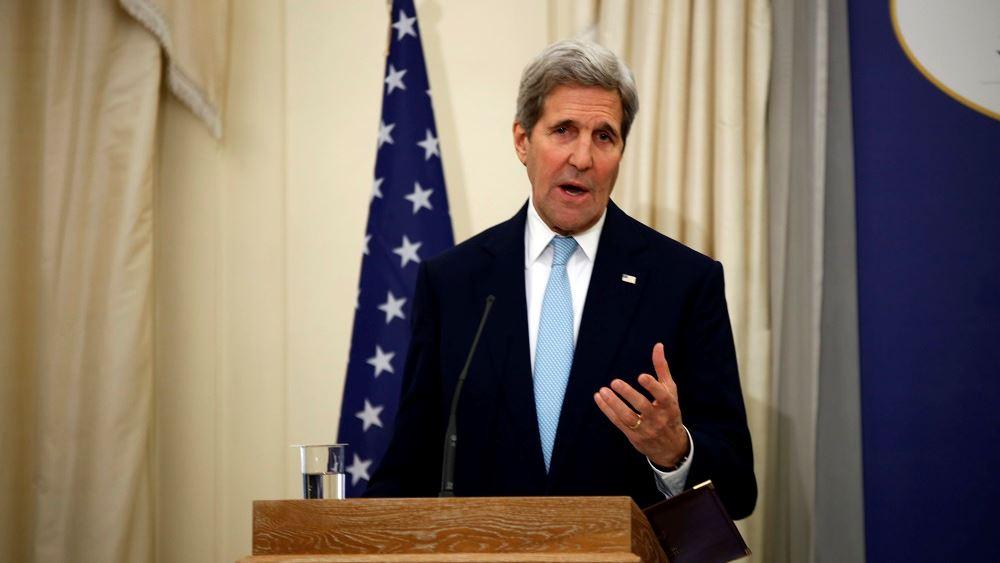 """Κέρι: """"Χαίρομαι που η Ελλάδα θέλει να γίνει ηγέτης στην αντιμετώπιση της κλιματικής αλλαγής"""""""
