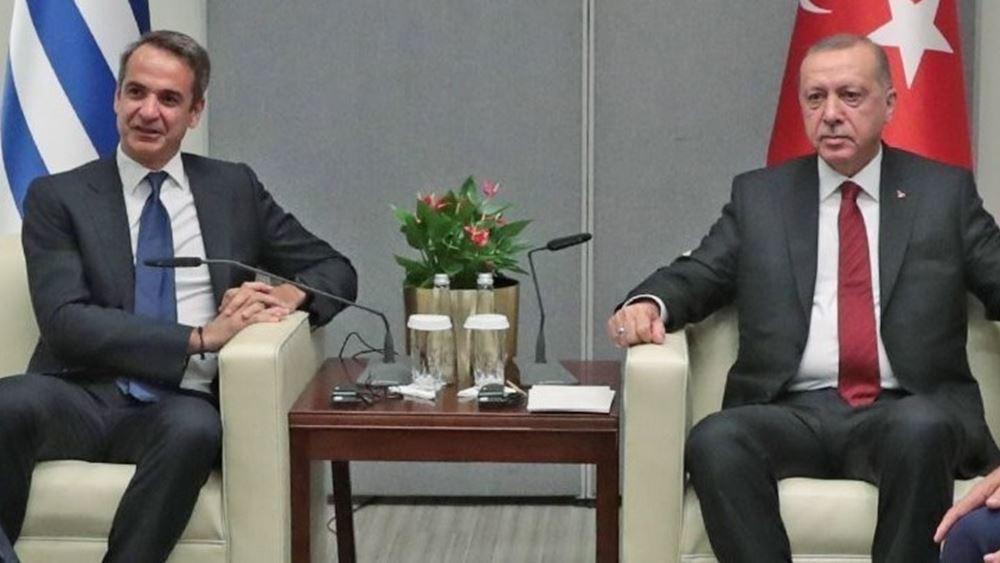 """Ο Ερντογάν θέλει """"κόκκινο τηλέφωνο"""" Αθήνας - Άγκυρας: Τι είπε στον Μητσοτάκη"""