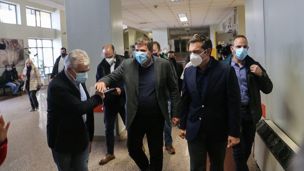 Τσιπρας  Πανεπιστημιακό Νοσοκομείο Λάρισας 18.11.2020
