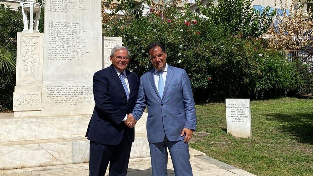 Συνάντηση Γεωργιάδη - Μενέντεζ για τις αμερικανικές επενδύσεις στην Ελλάδα