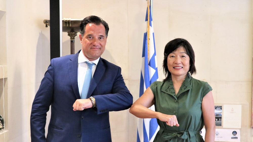 Συνάντηση Άδ. Γεωργιάδη - Πρέσβη της Κίνας με φόντο τις κινεζικές επενδύσεις στην Ελλάδα
