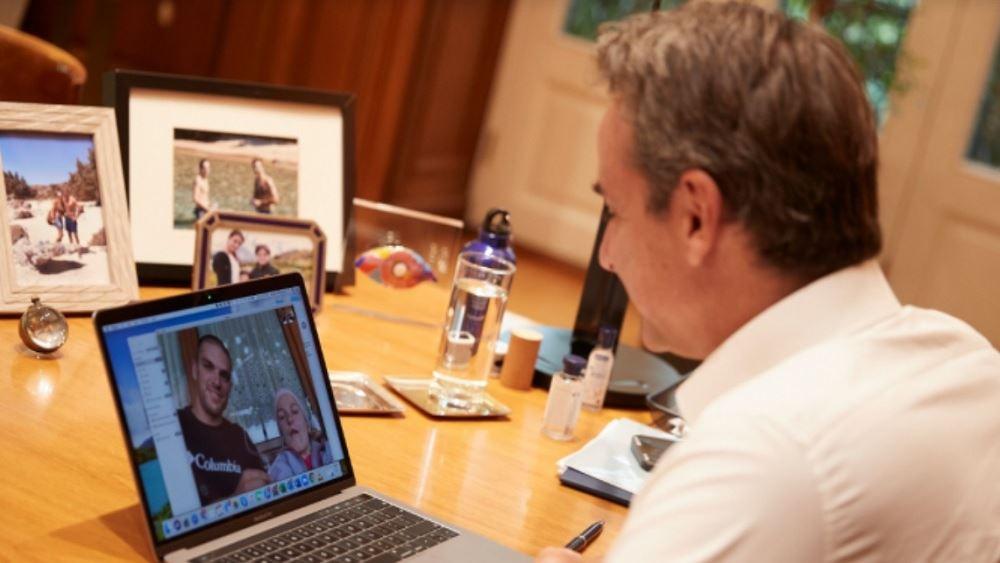 Επικοινωνία Μητσοτάκη με τον δρομέα υπεραποστάσεων Μάριο Γιαννάκου και την Ελευθερία Τόσιου