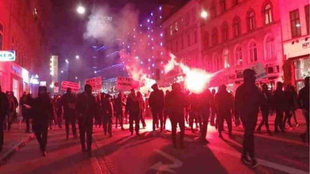 Δανία: Συλλήψεις στην Κοπεγχάγη σε διαδήλωση κατά των περιοριστικών μέτρων για την πανδημία