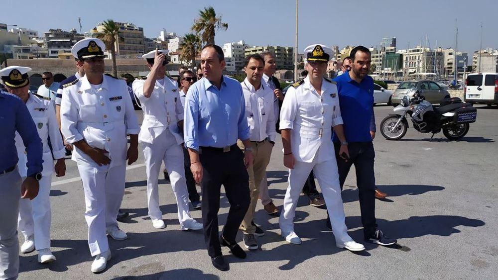 Κρήτη: Επίσκεψη του υπ. Ναυτιλίας Γ. Πλακιωτάκη
