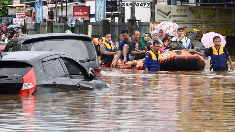 Ινδονησία: Σφοδρές πλημμύρες πλήττουν την πρωτεύουσα Τζακάρτα