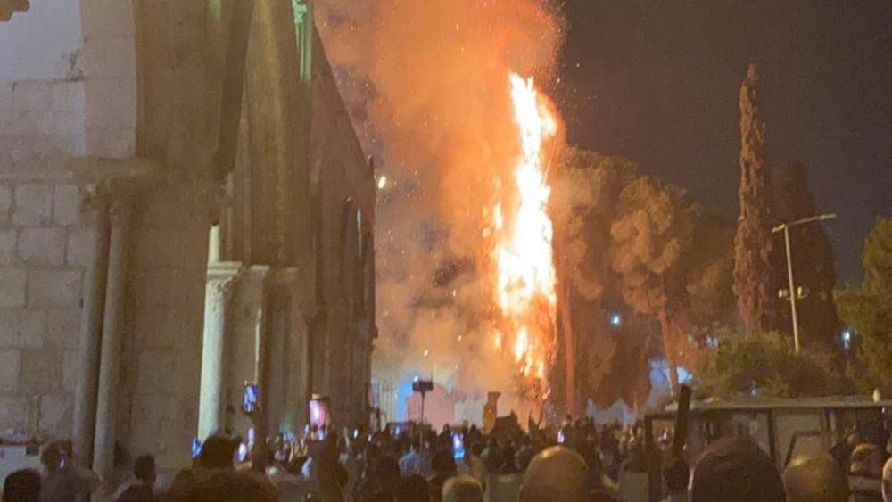Φωτιά ξέσπασε στην Πλατεία Τεμενών στην Ιερουσαλήμ