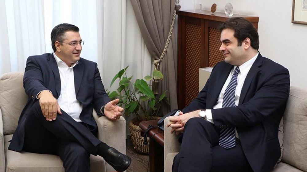 Συνάντηση Πιερρακάκη - Τζιτζικώστα για τις επενδύσεις στη Βόρεια Ελλάδα