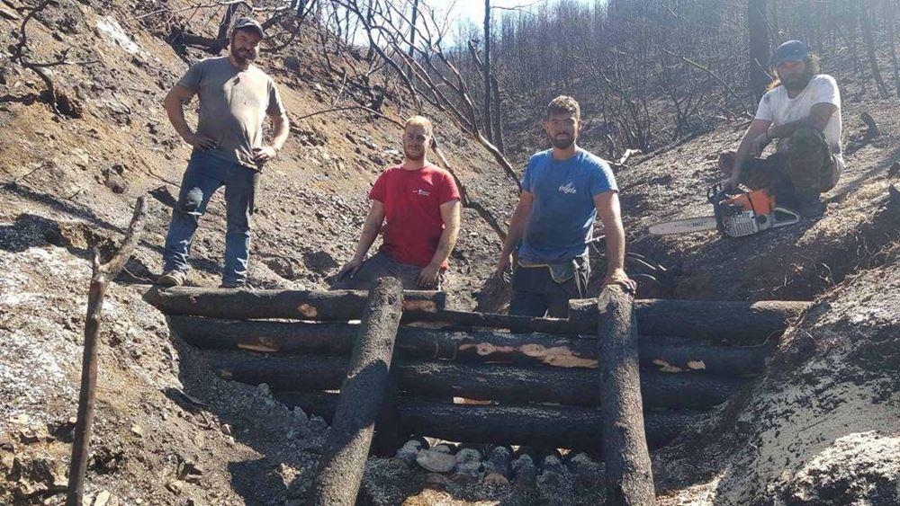 YΠΕΝ: Πάνω από 700 δασεργάτες στις πυρόπληκτες περιοχές της Βόρειας Εύβοιας