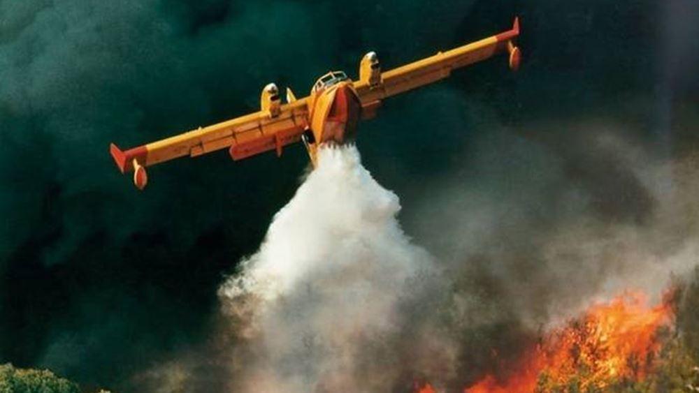 Οριοθετήθηκε η πυρκαγιά στον Μαραθώνα