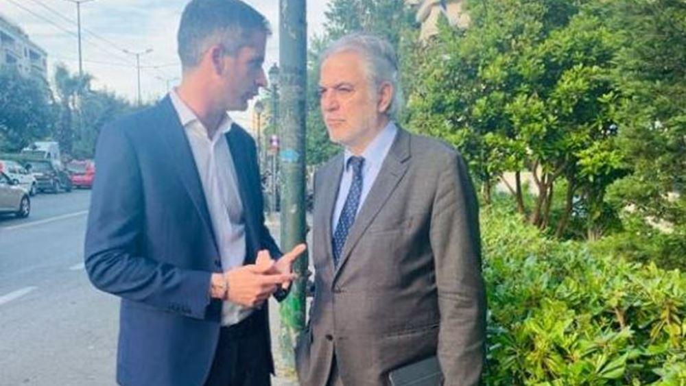 Συνάντηση K. Μπακογιάννη με τον Ευρωπαίο επίτροπο Στυλιανίδη για Προγράμματα Εκπαίδευσης της Κομισιόν