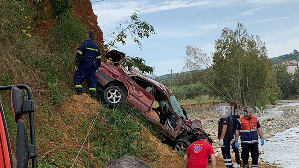Αυτοκίνητο έπεσε σε γκρεμό στα Χανιά - Νεκρός ο οδηγός