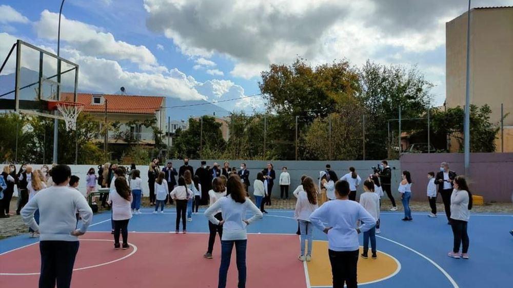 Παραδόθηκαν στα παιδιά της Σαμοθράκης τρία γήπεδα μπάσκετ και βόλεϊ