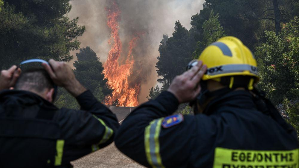 Πυροσβεστική: Πάνω από 1.100 πυροσβέστες αντιμετώπισαν 56 πυρκαγιές το τελευταίο 24ωρο