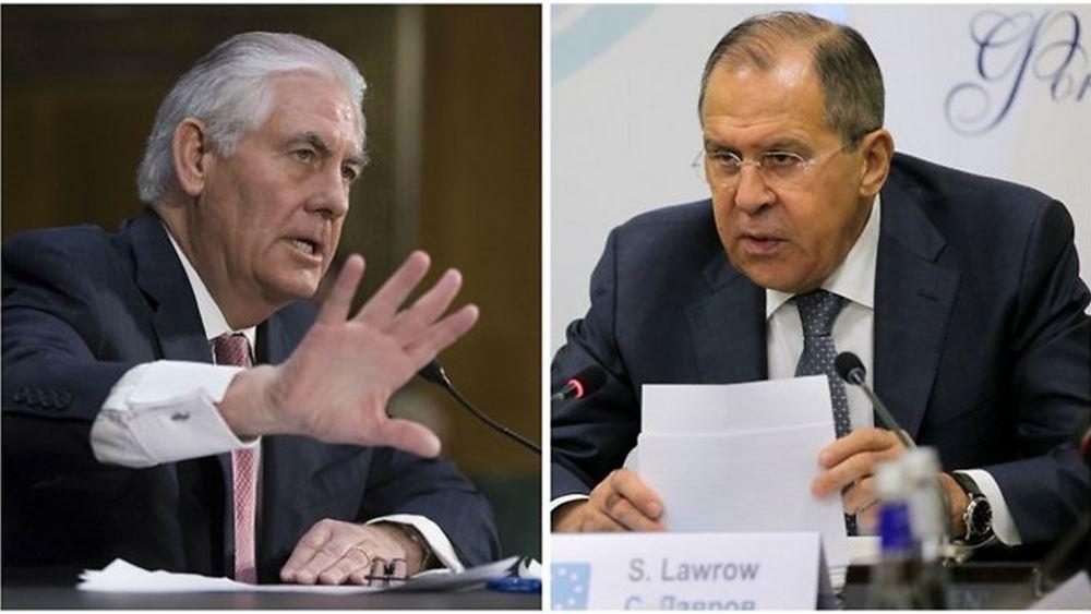 Τηλεφωνική επικοινωνία είχαν οι ΥΠΕΞ Lavrov και Tillerson για τη Συρία