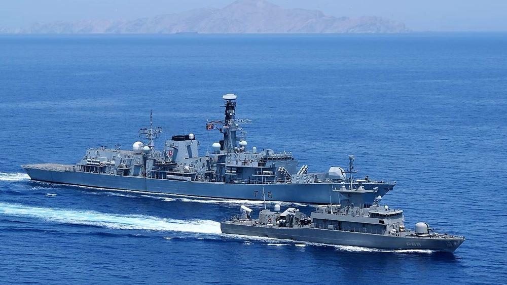 Συνεκπαίδευση ναυτικών μονάδων της Ελλάδας και της Γερμανίας στο Αιγαίο