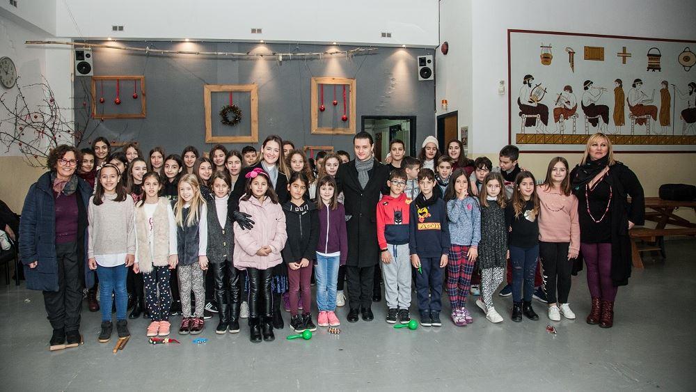 Το Ίδρυμα Χατζηγάκη διοργάνωσε χριστουγεννιάτικη γιορτή βιβλίου για τους μαθητές του 33ου Δημοτικού Σχολείου Τρικάλων