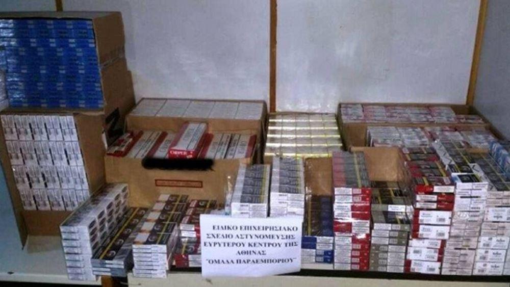 Συλλήψεις για κατοχή και διακίνηση λαθραίων καπνικών προϊόντων