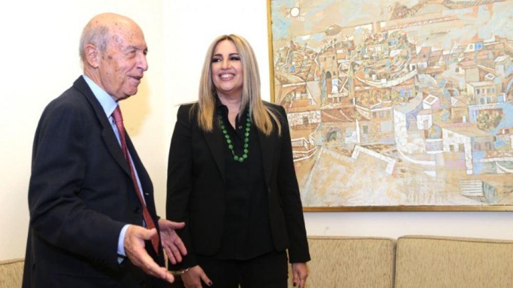 Τα ελληνοτουρκικά στο επίκεντρο της συνάντησης της Φ. Γεννηματά με τον Κ. Σημίτη