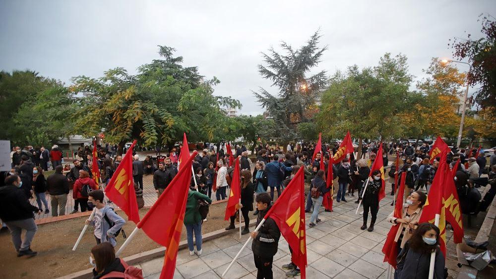 Αντιφασιστική συγκέντρωση ΚΚΕ και ΚΝΕ στη Θεσσαλονίκη