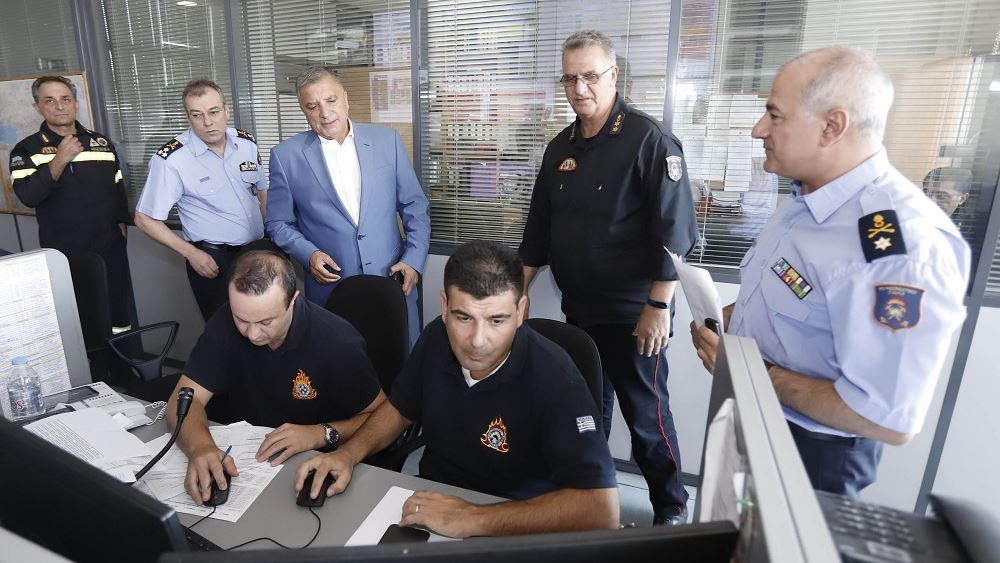 Στο Ενιαίο Συντονιστικό Κέντρο της Πυροσβεστική η 1η επίσκεψη του Περιφερειάρχη Αττικής Γ. Πατούλη