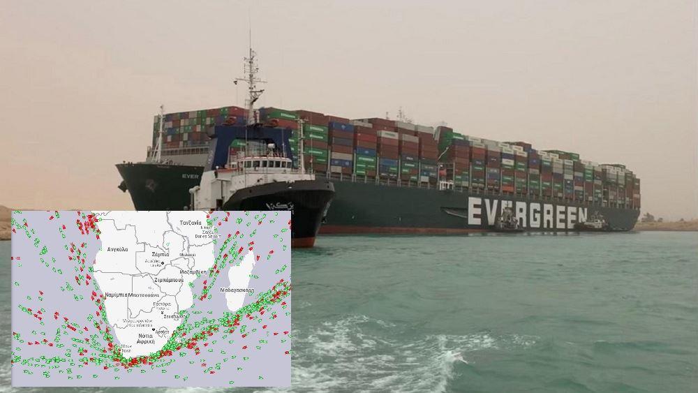 Η Αίγυπτος αξιώνει αποζημίωση πάνω από 900 εκατ. δολάρια για τον αποκλεισμό της Διώρυγας του Σουέζ από το Ever Given
