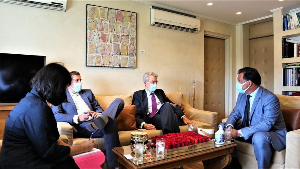 Οι προοπτικές για περαιτέρω επενδύσεις στην Ελλάδα συζητήθηκαν στη συνάντηση Γεωργιάδη - Πάϊατ