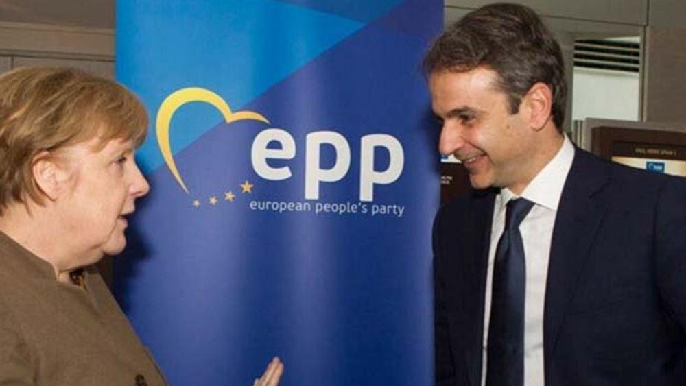 Kαγκελαρία: Διμερείς σχέσεις, θέματα οικονομικής πολιτικής και ευρωπαϊκά και διεθνή θέματα στην ατζέντα Μέρκελ - Μητσοτάκη