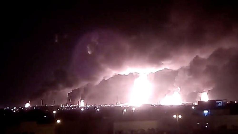 Η Σ. Αραβία δείχνει στα ΜΜΕ τις κατεστραμμένες από την επίθεση πετρελαϊκές εγκαταστάσεις
