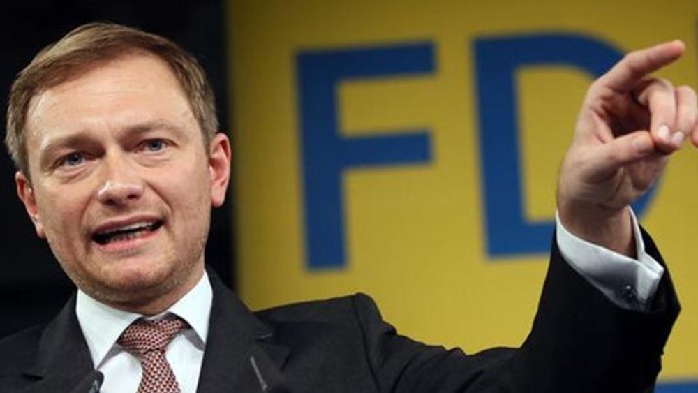 """Γερμανία: Ο Κρίστιαν Λίντνερ αποκλείει """"αριστερή στροφή"""" με το FDP και τάσσεται υπέρ μιας κυβέρνησης του κέντρου"""