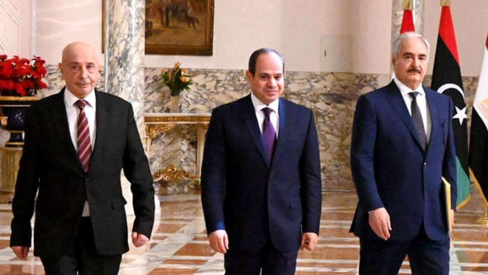 Συνάντηση στο Κάιρο μεταξύ Αλ-Σίσι, Χάφταρ και Σάλεχ