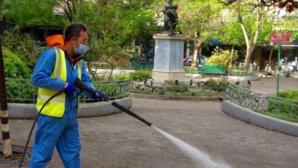 Επιχείρηση καθαριότητας της Κυψέλης-Πλατείας Αγ. Γεωργίου από το Δήμο της Αθήνας