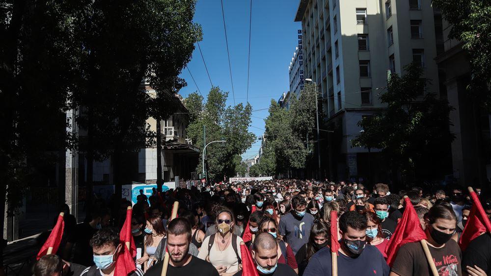 Μικρής έκτασης επεισόδια στο κέντρο της Αθήνας, λίγο πριν ολοκληρωθεί το μαθητικό συλλαλητήριο