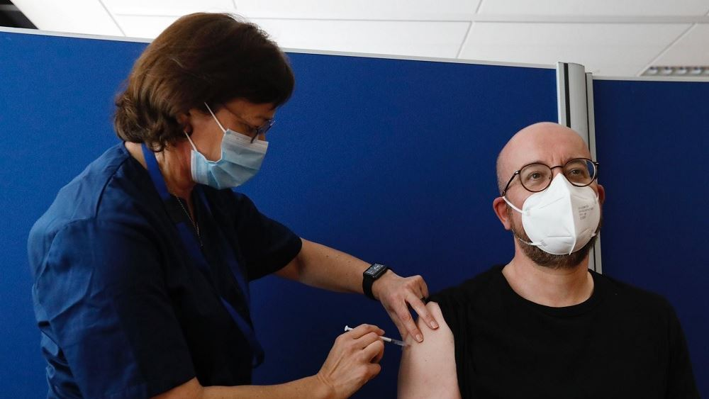 Έκανε την πρώτη δόση εμβολίου κατά του κορονοϊού ο Πρόεδρος του Ευρωπαϊκού Συμβουλίου Σαρλ Μισέλ