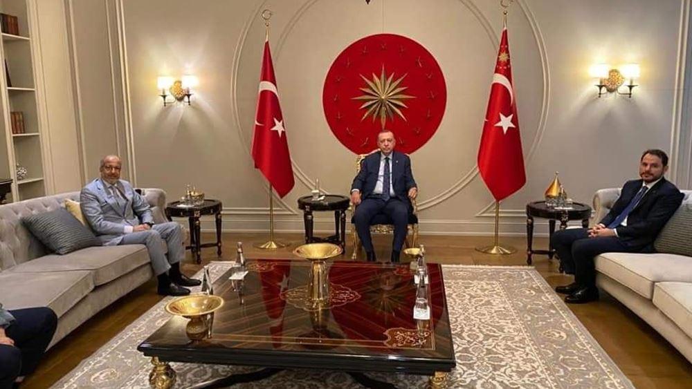 Ο διοικητής της Κεντρικής Τράπεζας της Λιβύης συναντήθηκε με τον Ερντογάν