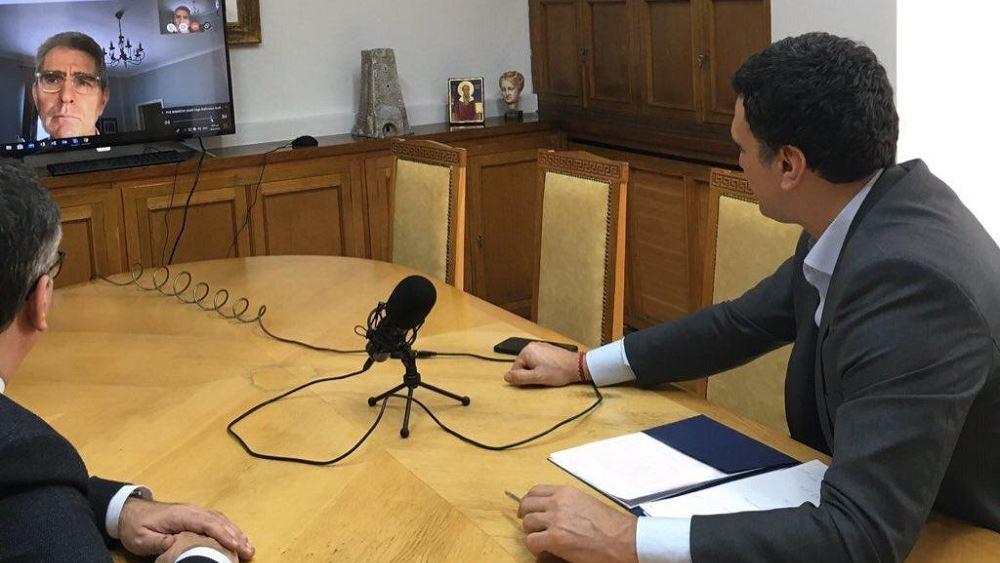 Τηλεδιάσκεψη Β. Κικίλια - Β. Κοντοζαμάνη με τον Αμερικανό πρέσβη Τζ. Πάιατ