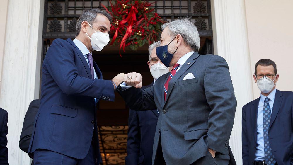 Συνάντηση Μητσοτάκη με τον αμερικανό υπουργό Ενέργειας